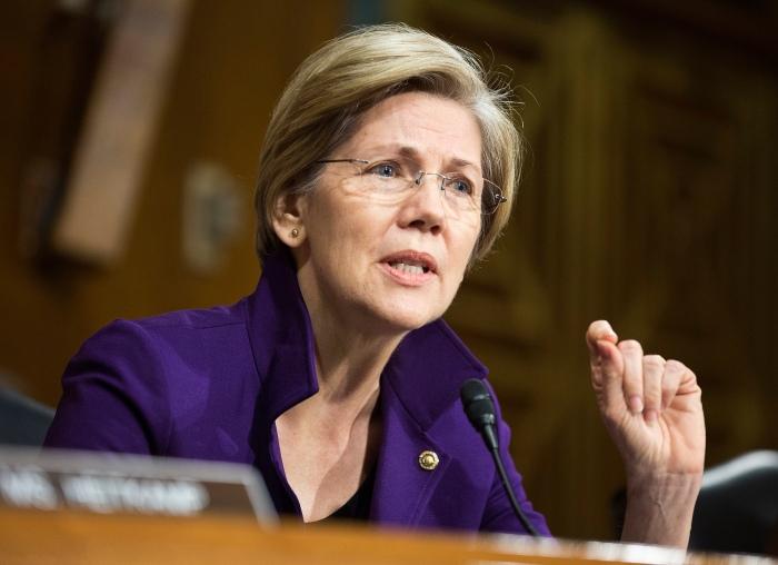 U.S. Senator EWarren questions Federal Reserve Vice Chair Yellen during a Senate Banking Committee confirmation hearing in Washington