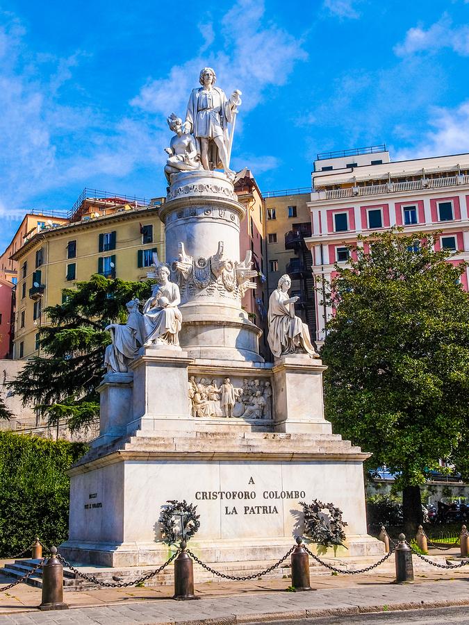 Columbus Monument In Genoa Hdr
