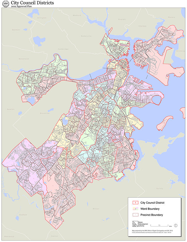 2012_Boston_City_Council_electoral_districts_map